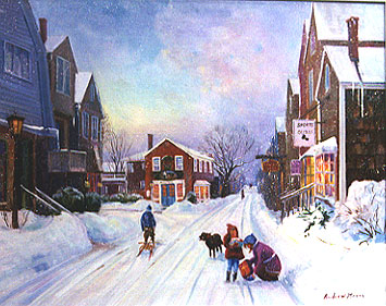 Snowy oilpainting by Andrew Menna